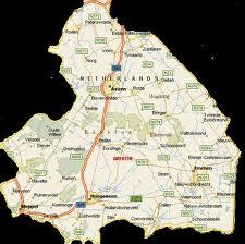 Kaart van Drenthe