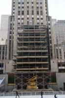 Rockefeller Plaza; opbouw kerstboom