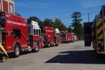 brandweer oefening, wij stonden erbij en keken ernaar.