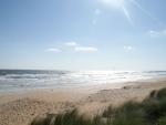 Verlaten stranden.