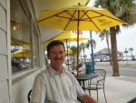 he vervelend in je vakantie; alweer een terrasje. Tybee Island