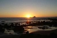 sunset San Simeon